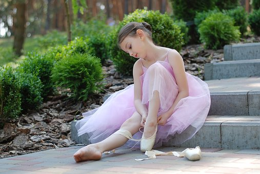 Niña bailarina de ballet